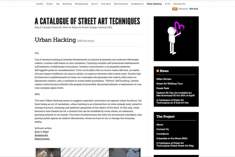 Street Art Techniques website