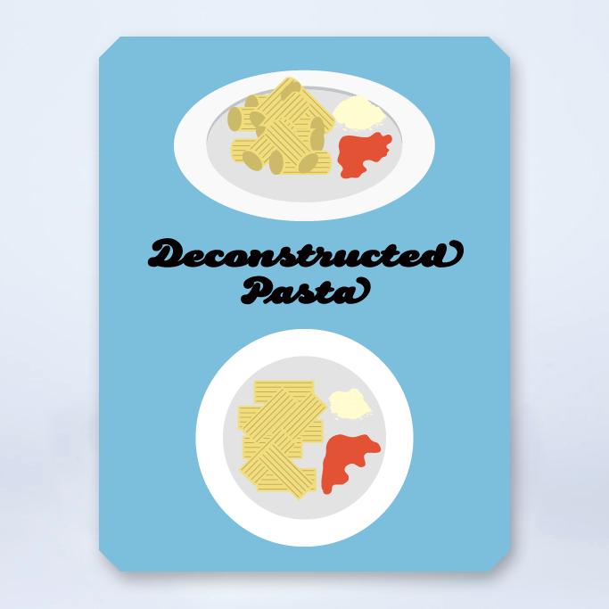 Deconstructed pasta