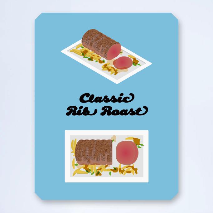 Classic rib roast