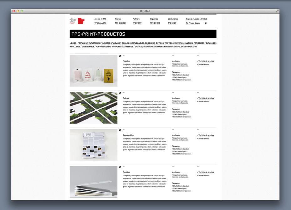 TPS web print products