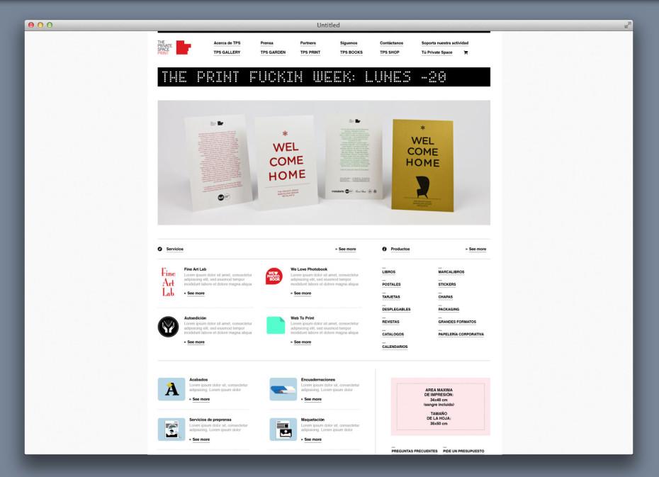 TPS web print