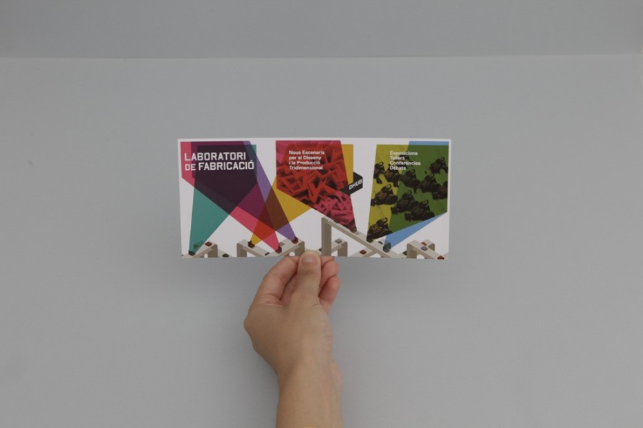 Fabrication Laboratory foldable invitation
